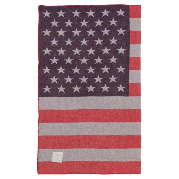 【即納】ウールリッチ WOOLRICH ユニセックス 雑貨 FREEDOM THROW RED/WHITE/BLUE ブランケット アウトドア|ef-3