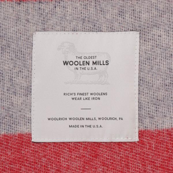 【即納】ウールリッチ WOOLRICH ユニセックス 雑貨 FREEDOM THROW RED/WHITE/BLUE ブランケット アウトドア|ef-3|03