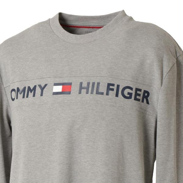 【即納】トミー ヒルフィガー Tommy Hilfiger メンズ 長袖Tシャツ トップス MODERN ESSENTIALS CREW NECK  GRAY HEATHER ロンT ロングT ロゴ プリント|ef-3|06