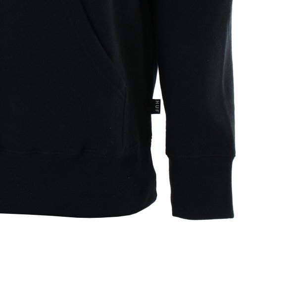 【即納】ハフ HUF メンズ パーカー トップス フーディー プルオーバー TEAM LOGO P/O HOOIDE BLACK BLACK|ef-3|05