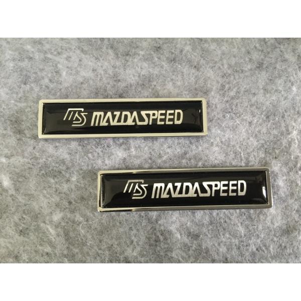 22★MAZDA SPEED マツダ用★2枚セット カーステッカー エンブレム  プレート 金属製 フェンダーバッジ シール 強粘着力