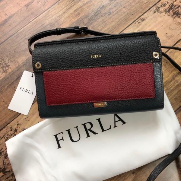 size 40 64b15 70a3f 新品 FURLA フルラ LIKE ライク ショルダーバッグ ウォレット 財布