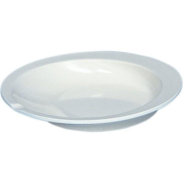 アビリティーズケアネット すくいやすい皿 アイボリー