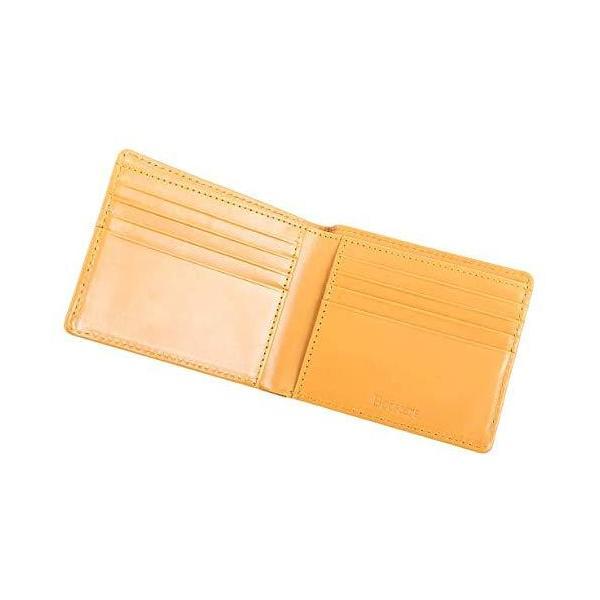 一流の革職人が作る Boosters ブースターズ二つ折り財布メンズ財布本革札入れ小銭入れなし薄型マスタード