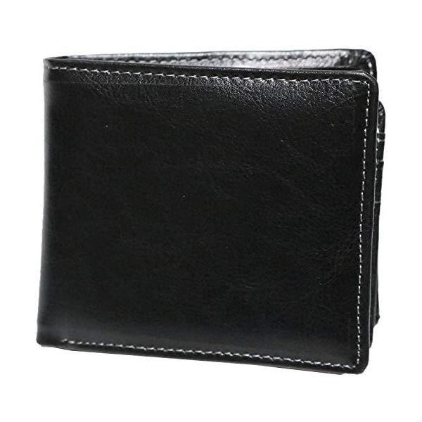 一流の革職人が作るブラック大人紳士本革牛革レザー二つ折り財布2つ折り短財布メンズ男性小銭入れ極小財布長財布な?