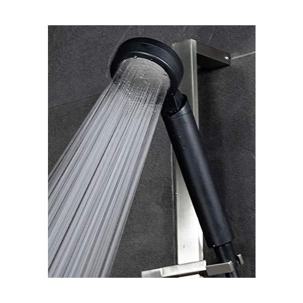 マイクロナノバブルシャワーヘッドスタンダードブラックNanojetナノジェット美髪シャワーヘットシャワー?