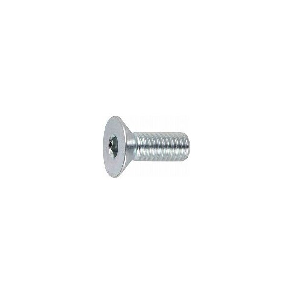 TRUSCO 六角穴付皿ボルト三価 白 サイズM4X15 24本入 B7730415