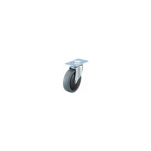 TRUSCO 樹脂台車カルティオ用省音キャスター Φ100エラストマー車 自在 TYSFHG100SEL