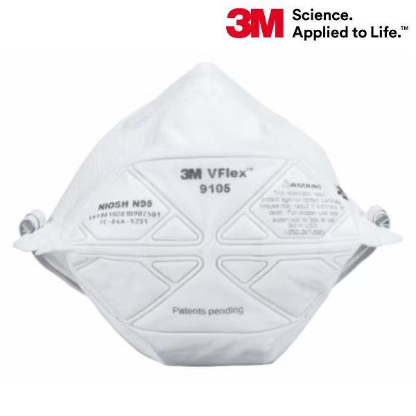 【あすつく】3M 使い捨て防塵マスク 9105-N95 50枚入 N95マスク規格対応