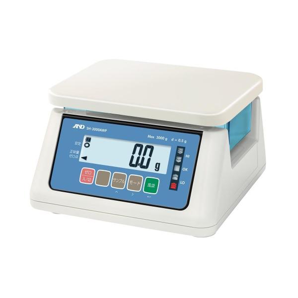 エー・アンド・デイ 防水型デジタル自動上皿はかり SH-6000AWP