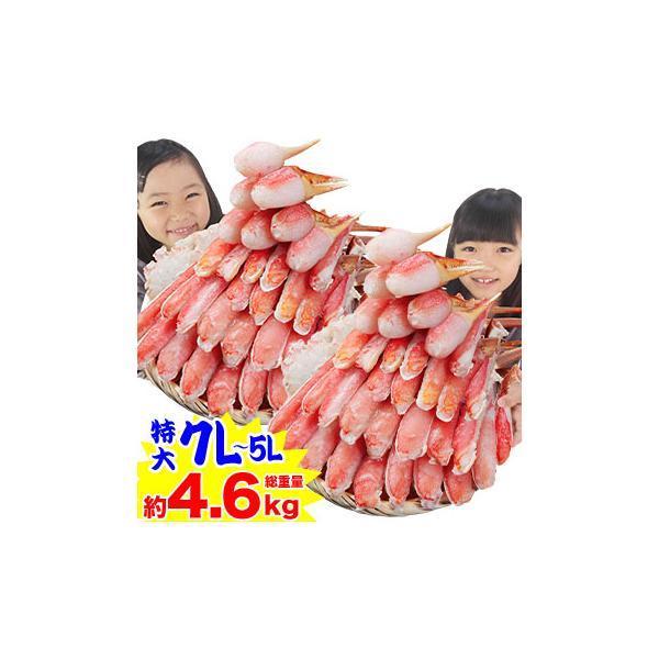 かに カニ 蟹 ズワイガニ |特大7L〜5L生ずわい蟹半むき身満足セット 3.6kg超 【総重量約4.6kg】【送料無料】