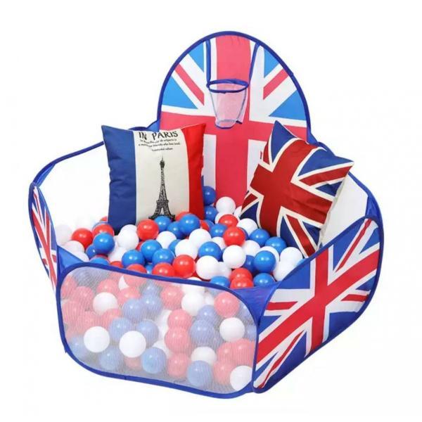 primaveraおりたたみボールプール英国旗デザインおしゃれベビーおもちゃ簡易ベビーサークル出産祝い1歳誕生日プレゼント男女兼用おもちゃ|egl-okinawa