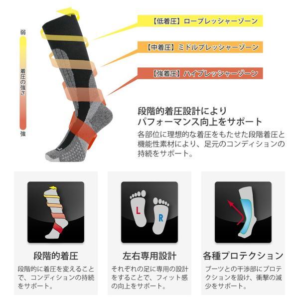 c74ca83dc764fd ... ソックス 靴下 着圧 サーモライト メンズ レディース スノーボード ウェアやスキーウェアと組合せが ...