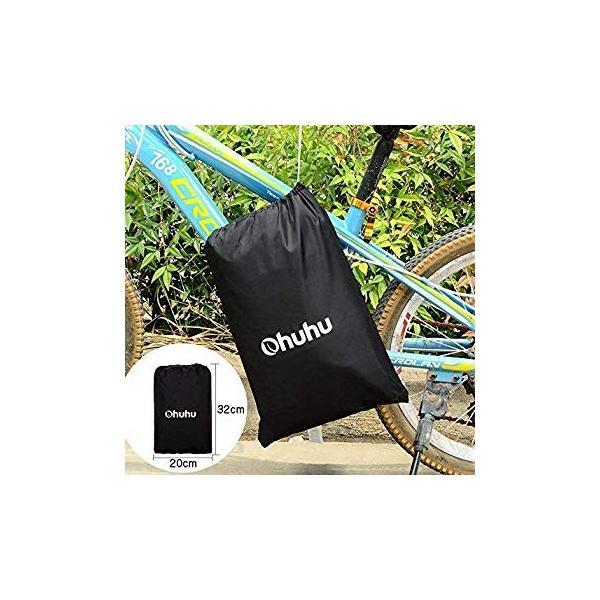Ohuhu 自転車カバー 子供車用 210D オックス製 厚手 キッズ用 サイクルカバー 生地 防水 破れにくい 防犯 防風 UVカット 2|eh-style