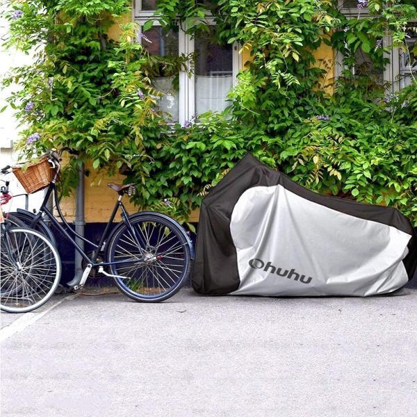 Ohuhu 自転車カバー 子供車用 210D オックス製 厚手 キッズ用 サイクルカバー 生地 防水 破れにくい 防犯 防風 UVカット 2|eh-style|02