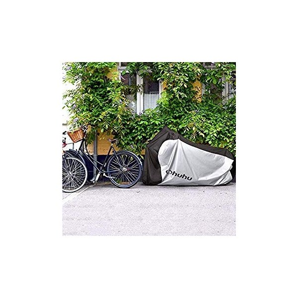 Ohuhu 自転車カバー 子供車用 210D オックス製 厚手 キッズ用 サイクルカバー 生地 防水 破れにくい 防犯 防風 UVカット 2|eh-style|13