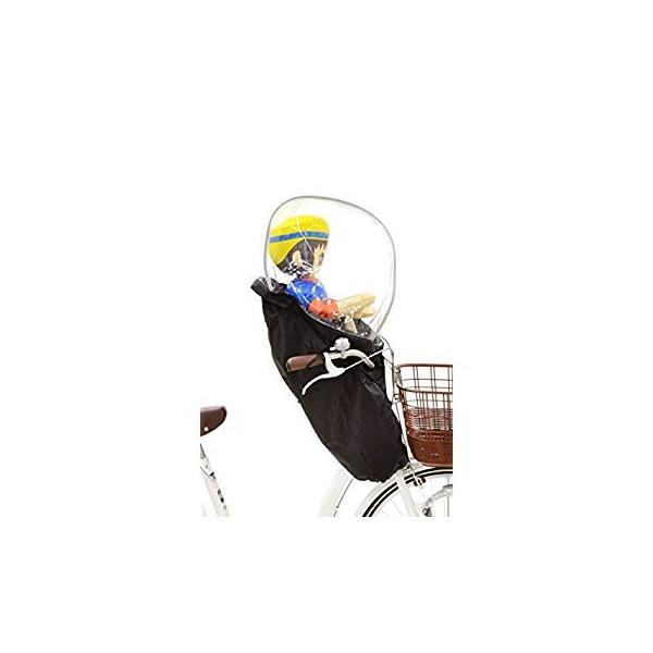 OGK技研 まえ子供のせ用ソフト風防レインカバー RCF-003 ハレーロ・ミニ ブラック 専用袋付|eh-style|12