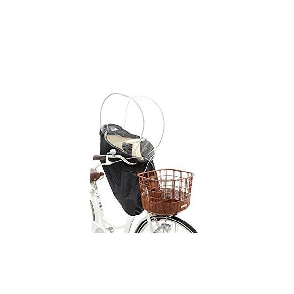 OGK技研 まえ子供のせ用ソフト風防レインカバー RCF-003 ハレーロ・ミニ ブラック 専用袋付|eh-style|15