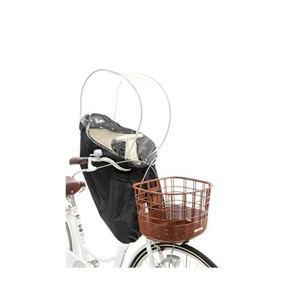 OGK技研 まえ子供のせ用ソフト風防レインカバー RCF-003 ハレーロ・ミニ ブラック 専用袋付|eh-style|03