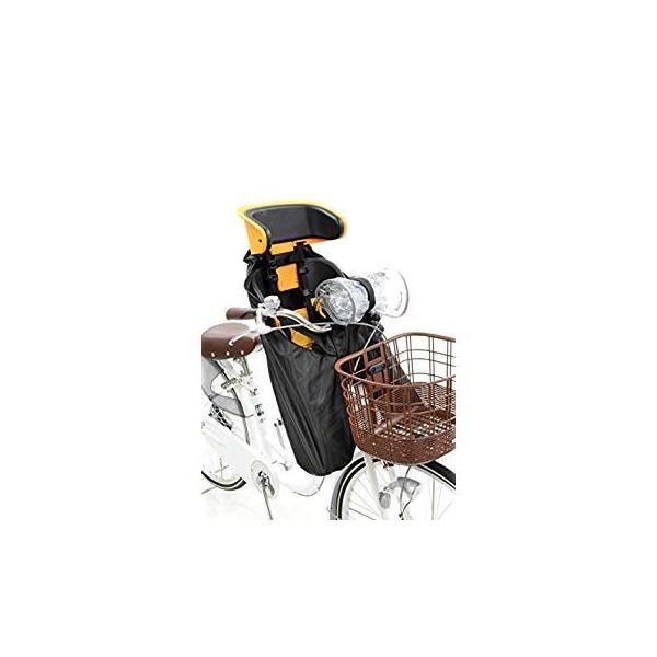 OGK技研 まえ子供のせ用ソフト風防レインカバー RCF-003 ハレーロ・ミニ ブラック 専用袋付|eh-style|04