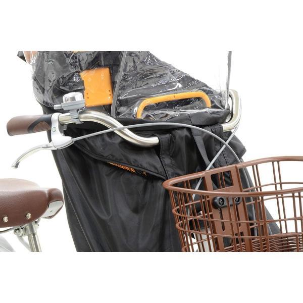 OGK技研 まえ子供のせ用ソフト風防レインカバー RCF-003 ハレーロ・ミニ ブラック 専用袋付|eh-style|07