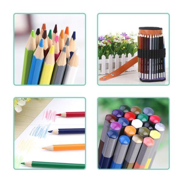 XIRINKK 色鉛筆 水溶性色鉛筆 48色セット 両用 塗り絵用鉛筆セット 水彩画色鉛筆セット 収納ケース 梱包ベルト付き(腰に繋げる)|eh-style|14