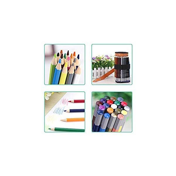 XIRINKK 色鉛筆 水溶性色鉛筆 48色セット 両用 塗り絵用鉛筆セット 水彩画色鉛筆セット 収納ケース 梱包ベルト付き(腰に繋げる)|eh-style|03