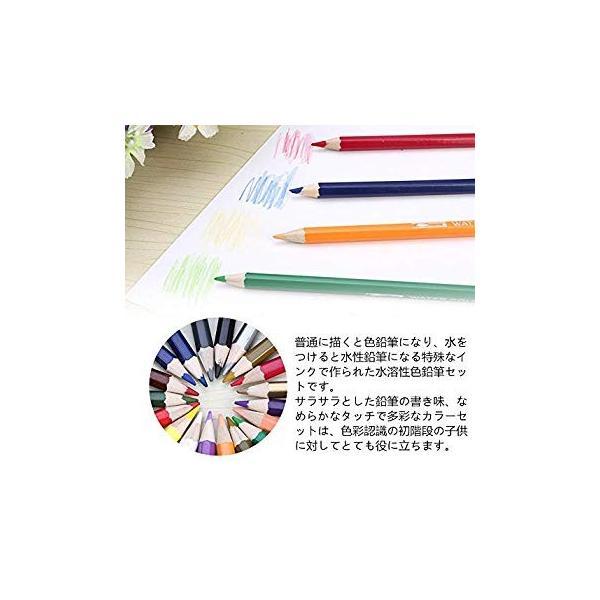 XIRINKK 色鉛筆 水溶性色鉛筆 48色セット 両用 塗り絵用鉛筆セット 水彩画色鉛筆セット 収納ケース 梱包ベルト付き(腰に繋げる)|eh-style|04