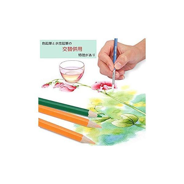 XIRINKK 色鉛筆 水溶性色鉛筆 48色セット 両用 塗り絵用鉛筆セット 水彩画色鉛筆セット 収納ケース 梱包ベルト付き(腰に繋げる)|eh-style|09