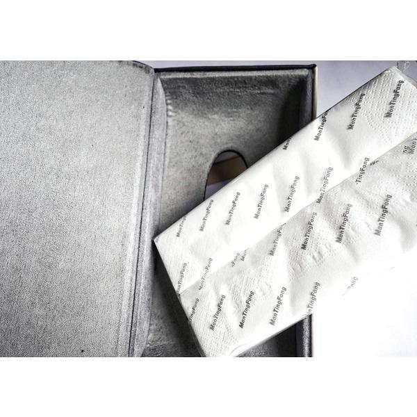 レクサス ティッシュケース カバー ロゴ入り アイボリーホワイト&ブラック ホワイトステッチ刺繍 シルバートリム レザー 各車種汎用 市販テ eh-style 16