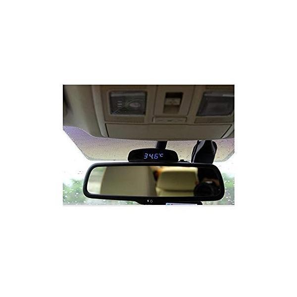 TOWOTO 4in1 車載電子時計 時刻 日付 温度 電圧 お洒落 デジタル コンパクト 多機能Mini車内装飾|eh-style|03