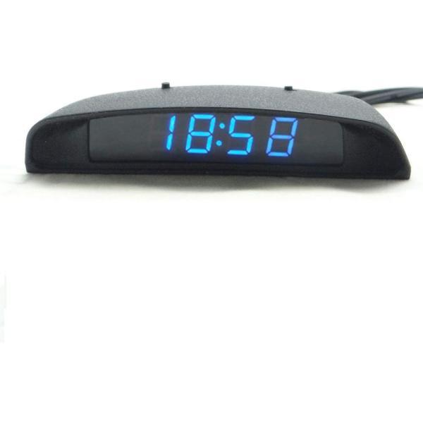 TOWOTO 4in1 車載電子時計 時刻 日付 温度 電圧 お洒落 デジタル コンパクト 多機能Mini車内装飾|eh-style|10