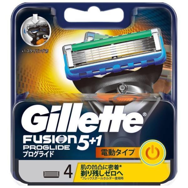 P&G ジレット フュージョン 5+1 プログライド パワー 替刃 4個 男性用カミソリ