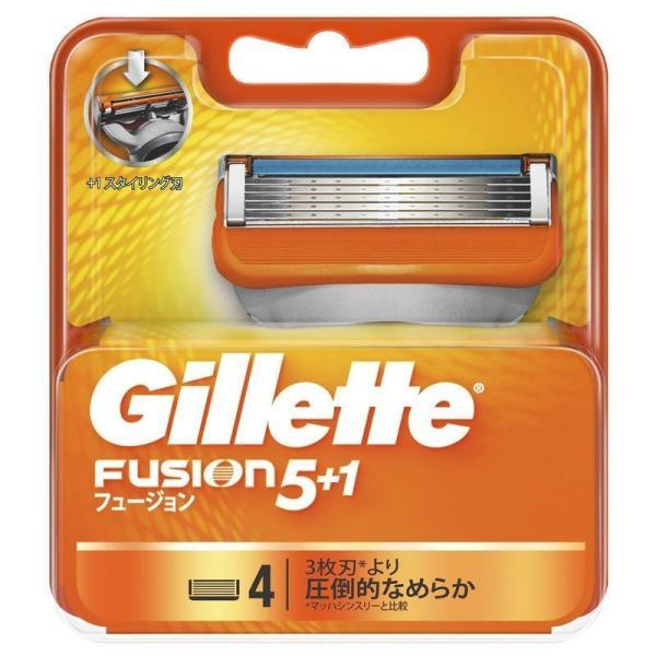 P&G ジレット フュージョン 5+1 替刃 4個 男性用カミソリ