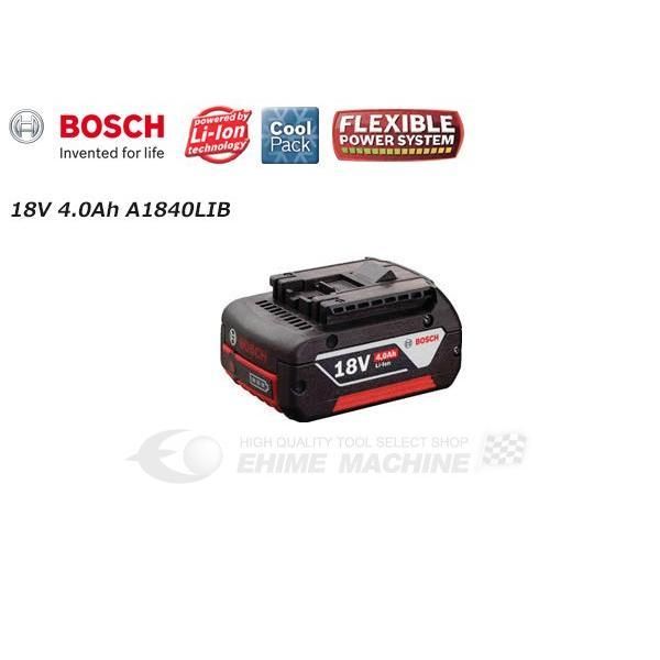 BOSCH ボッシュ 18V リチウムイオンバッテリー 4.0Ah A1840LIB|ehimemachine