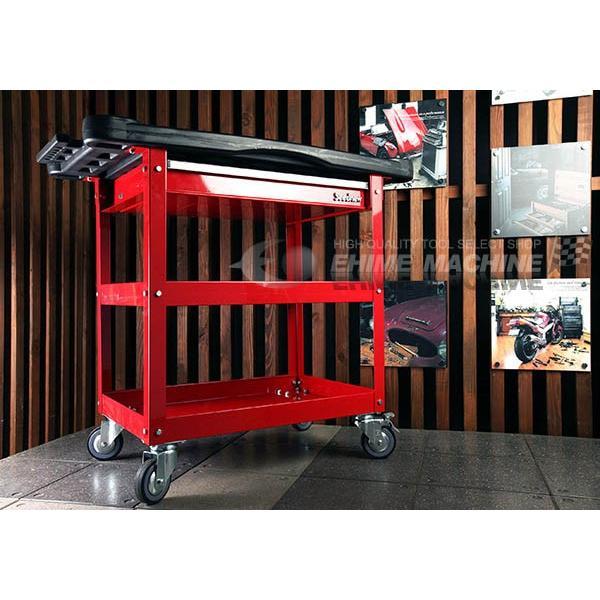 [メーカー直送品]SEEDNEW シーズニュー プロユースサービスカート(小物入れ付ツールカート) A30201C|ehimemachine