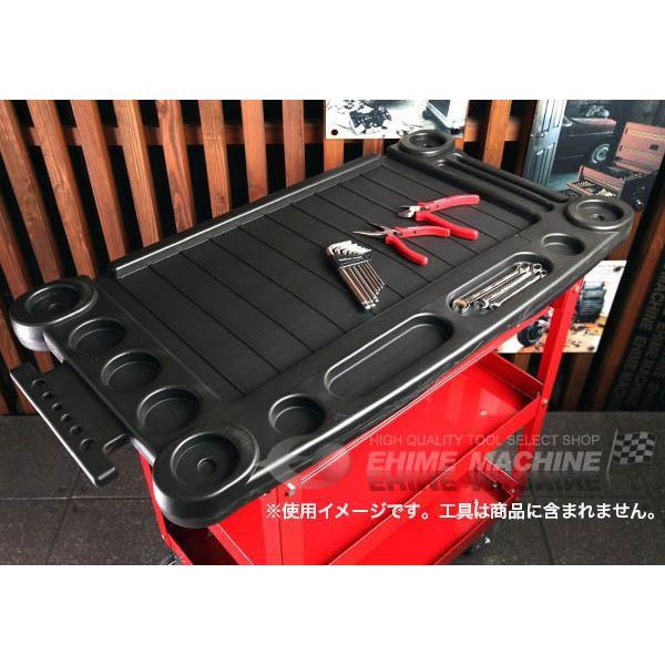 [メーカー直送品]SEEDNEW シーズニュー プロユースサービスカート(小物入れ付ツールカート) A30201C|ehimemachine|02