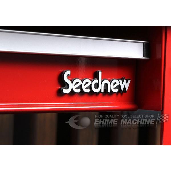 [メーカー直送品]SEEDNEW シーズニュー プロユースサービスカート(小物入れ付ツールカート) A30201C|ehimemachine|04