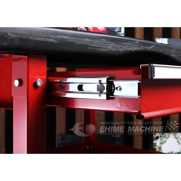 [メーカー直送品]SEEDNEW シーズニュー プロユースサービスカート(小物入れ付ツールカート) A30201C|ehimemachine|05