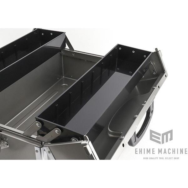 TONE トネ 両開きツールケース(メタリックシルバー) BX322SV|ehimemachine|11