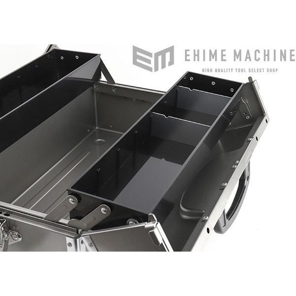 TONE トネ 両開きツールケース(メタリックシルバー) BX322SV|ehimemachine|13