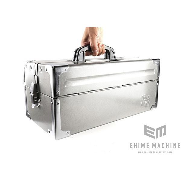 TONE トネ 両開きツールケース(メタリックシルバー) BX322SV|ehimemachine|14
