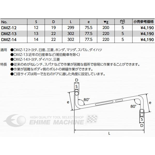 KTC ドアヒンジレンチ DMZ-13|ehimemachine|02