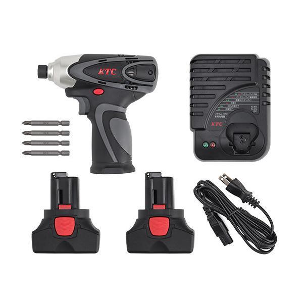 KTC コードレス充電式 電動インパクト ドライバーセット JTAE115|ehimemachine|02
