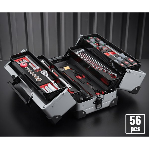 在庫有 KTC 工具セット 9.5sq. 56点ツールセット メタリックシルバー (豪華特典付) SK35617WZ|ehimemachine