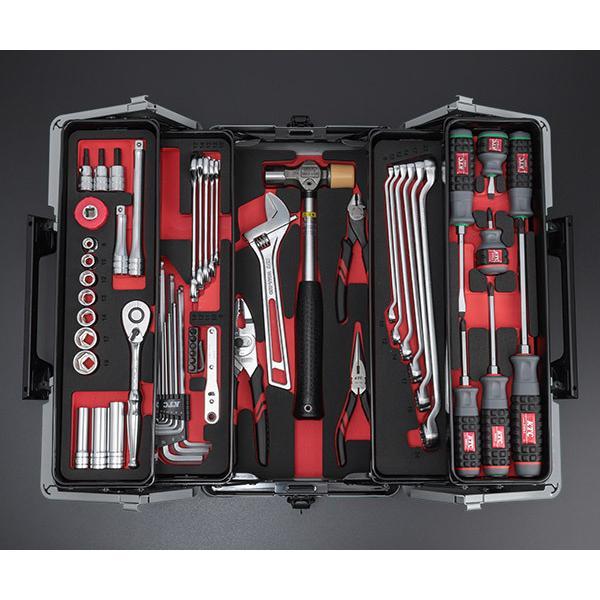 在庫有 KTC 工具セット 9.5sq. 56点ツールセット メタリックシルバー (豪華特典付) SK35617WZ|ehimemachine|04