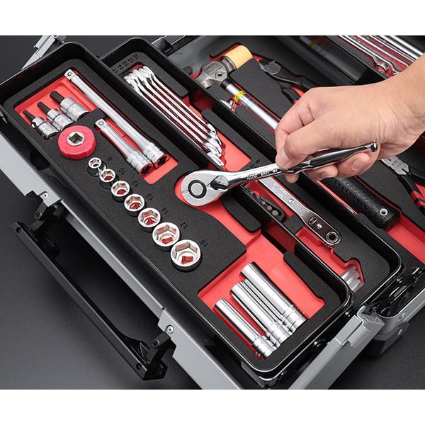 在庫有 KTC 工具セット 9.5sq. 56点ツールセット メタリックシルバー (豪華特典付) SK35617WZ|ehimemachine|05