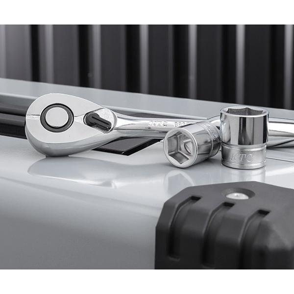 在庫有 KTC 工具セット 9.5sq. 56点ツールセット メタリックシルバー (豪華特典付) SK35617WZ|ehimemachine|06
