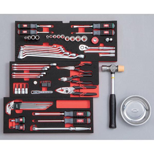 [今だけ卓上カレンダー付] 在庫有 KTC 9.5sq. 67点工具セットSK36719X(豪華特典付)レッド スタンダードツールセット ehimemachine 04