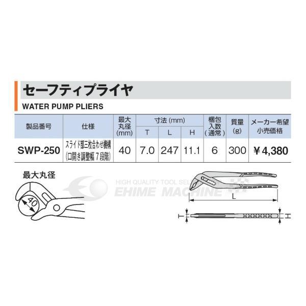 TONE トネ セーフティプライヤ SWP-250 ehimemachine 04
